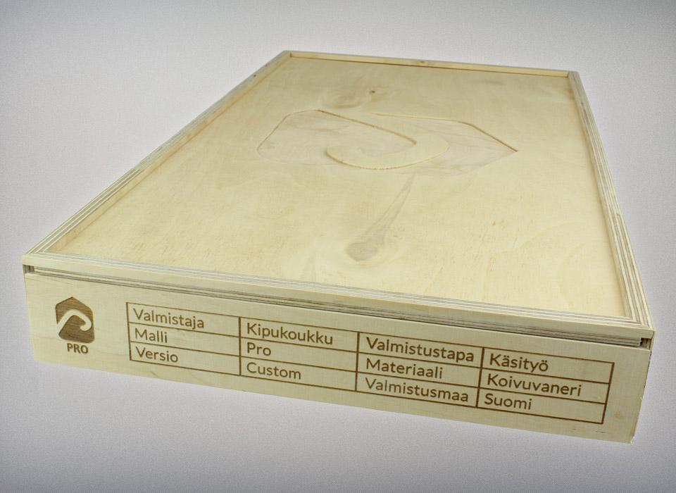 Kipuokoukku PRO puinen tuotelaatikko
